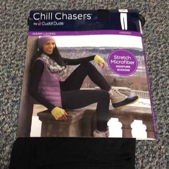 NWOT Women/'s Cuddl Duds ClimateSmart Leggings Black X-Large